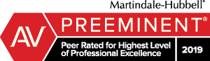 Badge - AV PREEMINENT Peer Rated for Highest Level of Professional Excellence 2019