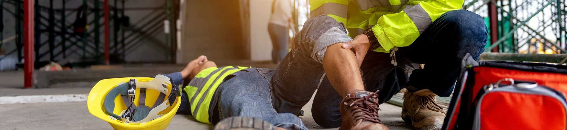 Accident At Work Of Construction Worker At Site, Construction Accidents Lawsuit Claims Lawyer