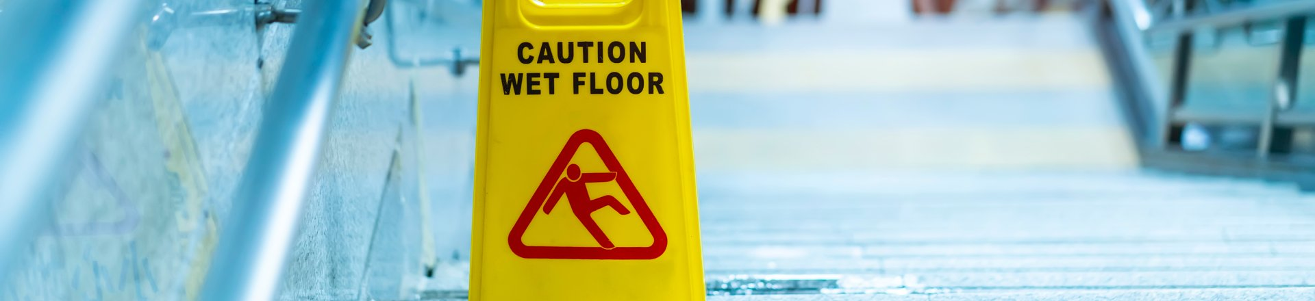 Caution Wet Floor Warning, Tampa Premises Liability Lawyer