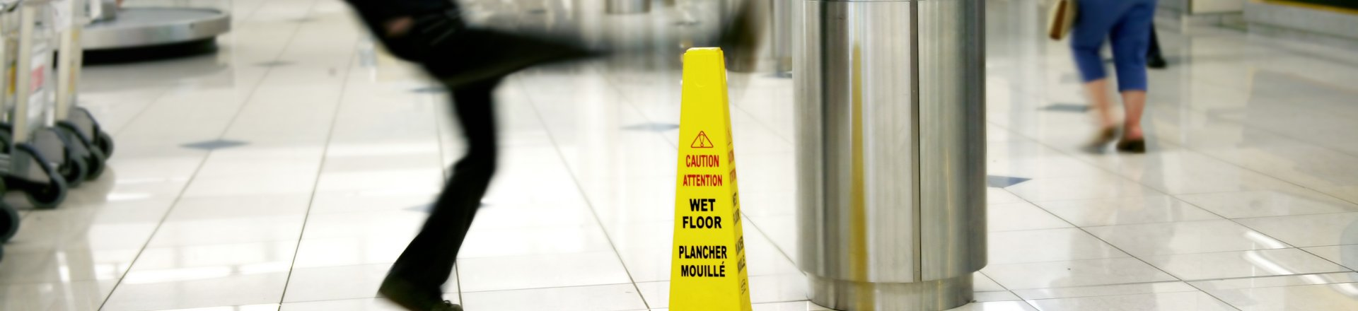 Man Slips On The Wet Floor, Slip and Fall Injury Lawyer