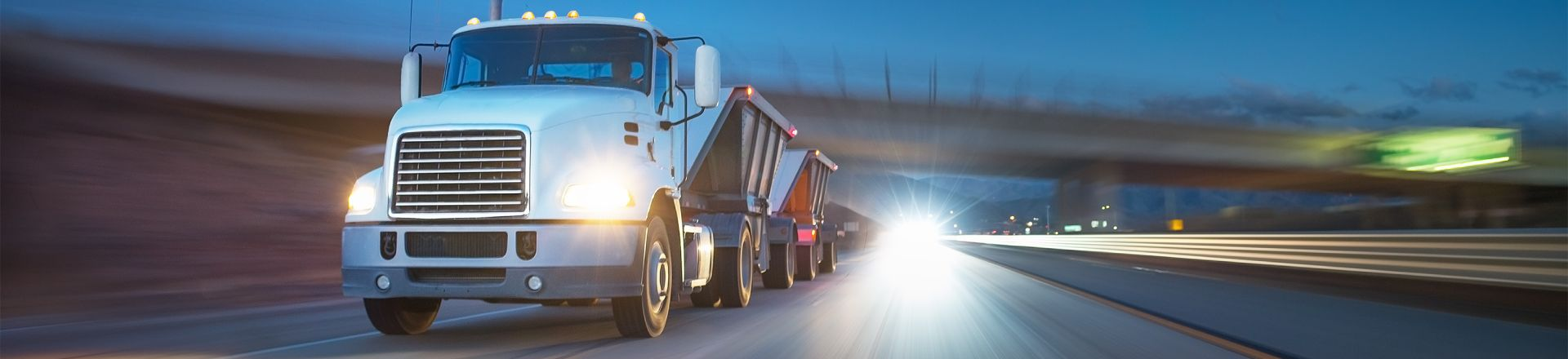 American Style Truck On The Road. Tampa Truck Accidents Injury Lawyer